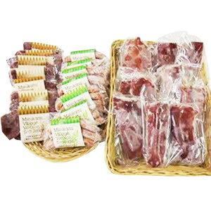 【ふるさと納税】熊本県市房山麓でとれた鹿セット (桜)鹿肉 計3.19kg ロース肉 もも肉 ソフトジャーキー ヴルスト ソーセージ 4種類 詰め合わせ セット ジビエ 肉 熊本県産 送料無料