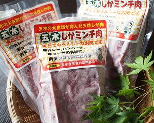 【ふるさと納税】No.052 五木の大自然が育んだ天然しかミンチ肉セット / 鹿肉 ジビエ 熊本県 特産