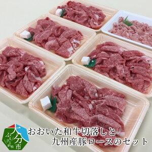 【ふるさと納税】おおいた和牛切落しと九州産豚ロースのセット約1.25kg A01068 【大分県大分市】
