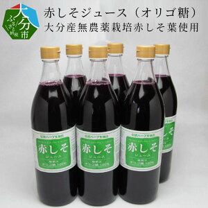 【ふるさと納税】赤しそジュース(オリゴ糖)大分産無農薬栽培赤しそ葉使用 F10013【大分県大分市】
