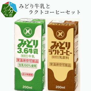 【ふるさと納税】みどり牛乳とラクトコーヒーセット I07001【大分県大分市】
