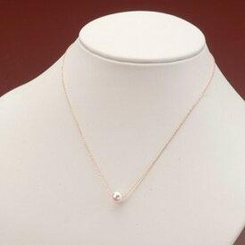 【ふるさと納税】アコヤ真珠1粒ネックレス(K10PG)