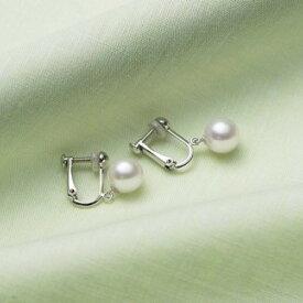 【ふるさと納税】アコヤ真珠ゆれるイヤリング(K14WG)