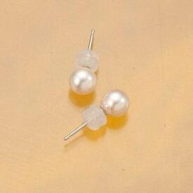 【ふるさと納税】アコヤ真珠直付きピアス(6ミリ・K14WG)
