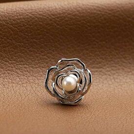 【ふるさと納税】アコヤ真珠ピンブローチ(花)