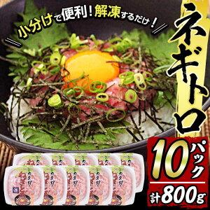 【ふるさと納税】カスガ水産の「ネギトロ80g」×10パック