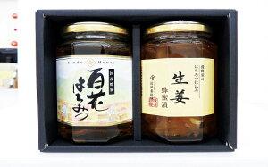 【ふるさと納税】養蜂家の贈り物【はちみつ・(国産百花蜜350g×1・しょうが蜂蜜漬350×1)】