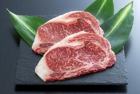 【ふるさと納税】ヘルシーな豊後・米仕上牛ロースステーキ2枚(計400g)
