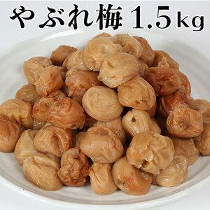【訳あり・やぶれ梅】ひらそ農園の完熟南高梅の梅干し 1.5kg(塩分約13%)<04-A0005>