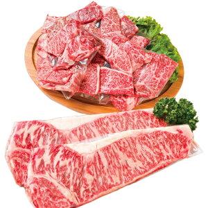 【ふるさと納税】豊後牛 カルビ焼肉用&霜降りサーロインステーキ<13-C5019>