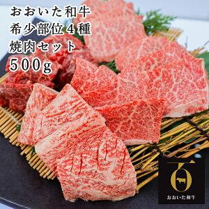 【ふるさと納税】希少部位4種焼き肉セット500g【匠牧場】おおいた和牛(特製タレ付)<56-A9001>