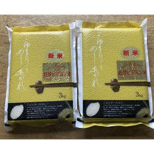 【ふるさと納税】大分県産米ひのひかり 胚芽ビタミン米 3kg×2パック(計6kg) 真空パック米 安心院米 令和2年米 新米 無洗米 送料無料
