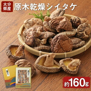 【ふるさと納税】原木乾燥シイタケ 箱入り 原木 乾燥 しいたけ 干し 椎茸 約160g 常温 送料無料