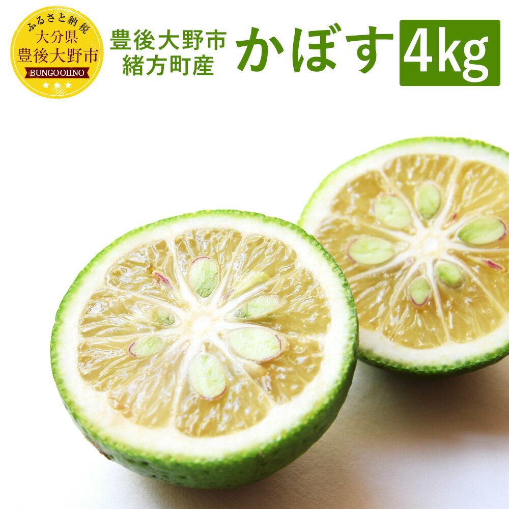 【ふるさと納税】かぼす 4kg 大分県 豊後大野市 緒方町産 果物 フルーツ