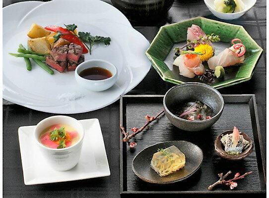 【ふるさと納税】銀座 花蝶でおおいた国東の和洋創作料理を!ペアディナー券