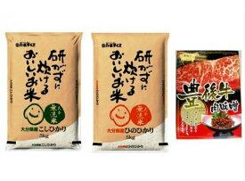 【ふるさと納税】とがずに炊ける大分県産無洗米10キロ&ご飯が進む豊後牛肉みそ・通
