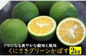 【ふるさと納税】国東産グリーンかぼす2kg