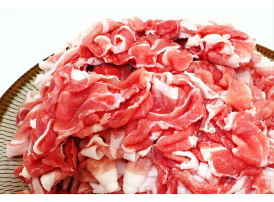 【ふるさと納税】大皿でもハミ出し注意!大分県産豚の切り落とし(3.2kg)・通