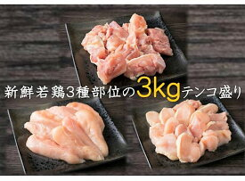 【ふるさと納税】便利で美味しい大盛り3kg!大分県産鶏の三種盛り