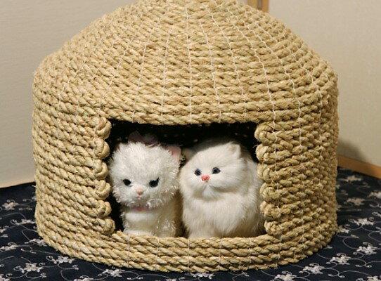 【ふるさと納税】愛猫の和風高級マンション!国東猫ちぐら(ダブル)・通