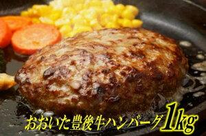 【ふるさと納税】豊後牛ハンバーグ1kg(プレーン)
