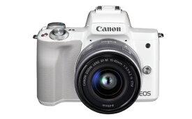 【ふるさと納税】キヤノンミラーレスカメラ(EOS Kiss M・EF-M15-45 IS STM レンズキット ・ホワイト)