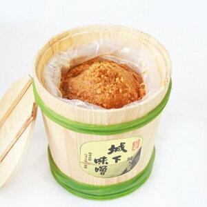 【ふるさと納税】阿部三郎商店 城下味噌2kg(樽入り)【ひじめいど】 AW03【1108150】