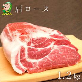【ふるさと納税】延岡よっとん 肩ロース ブロック1.2kg 国産無投薬豚肉 EM豚