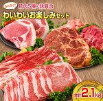 【ふるさと納税】≪お楽しみ≫豚肉5種&鶏カタ肉おひとり様満喫セット(計2.1kg)