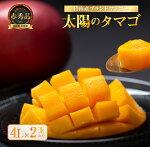 【ふるさと納税】完熟マンゴー「太陽のタマゴ(赤秀品)」4L×2玉
