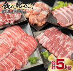 【ふるさと納税】豚肉・鶏肉食べ方いろいろセット(合計5kg)
