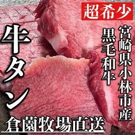 【ふるさと納税】【倉薗牧場直送】宮崎県産特選黒毛和牛の極上厚切り牛タン