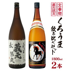 【ふるさと納税】神楽酒造 蔵元限定&定番 くろうま飲み比べ一升瓶セット