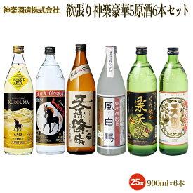 【ふるさと納税】欲張り神楽5原材料焼酎6本飲み比べセット