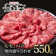 【ふるさと納税】宮崎和牛「齋藤牛」モモ・バラ焼肉盛り合わせ550g