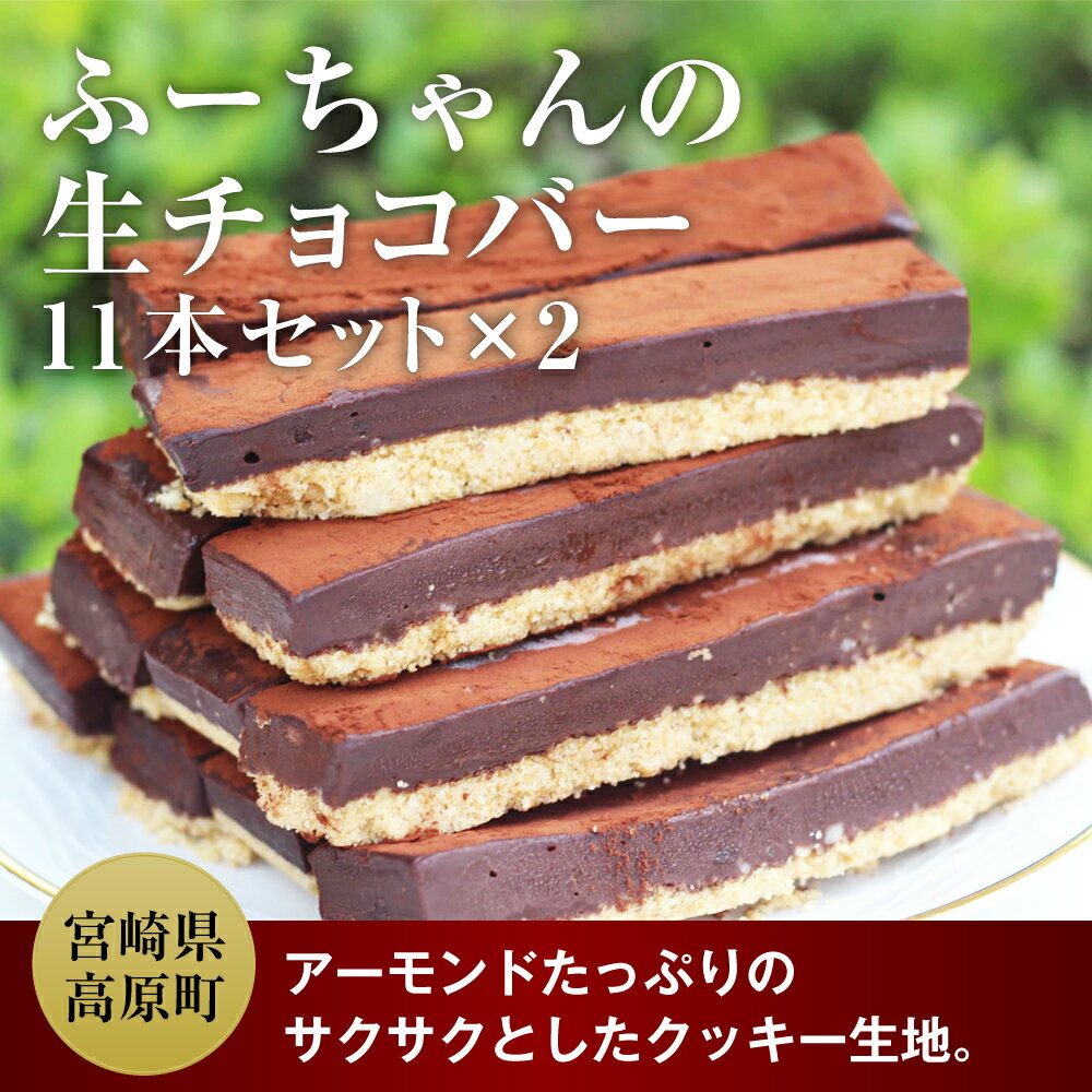 【ふるさと納税】 ふーちゃんの生チョコバー 11本×2セット