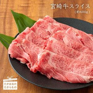 【ふるさと納税】宮崎牛スライス(約600g・冷凍)