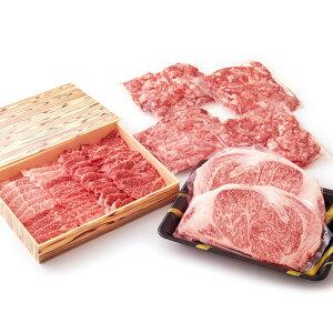 【ふるさと納税】宮崎牛キングセット2.6kg[宮崎牛サーロインステーキ約400g(約200g×2枚)/宮崎牛焼肉用約650g/宮崎牛切落とし約1.6kg(約400g×4パック)