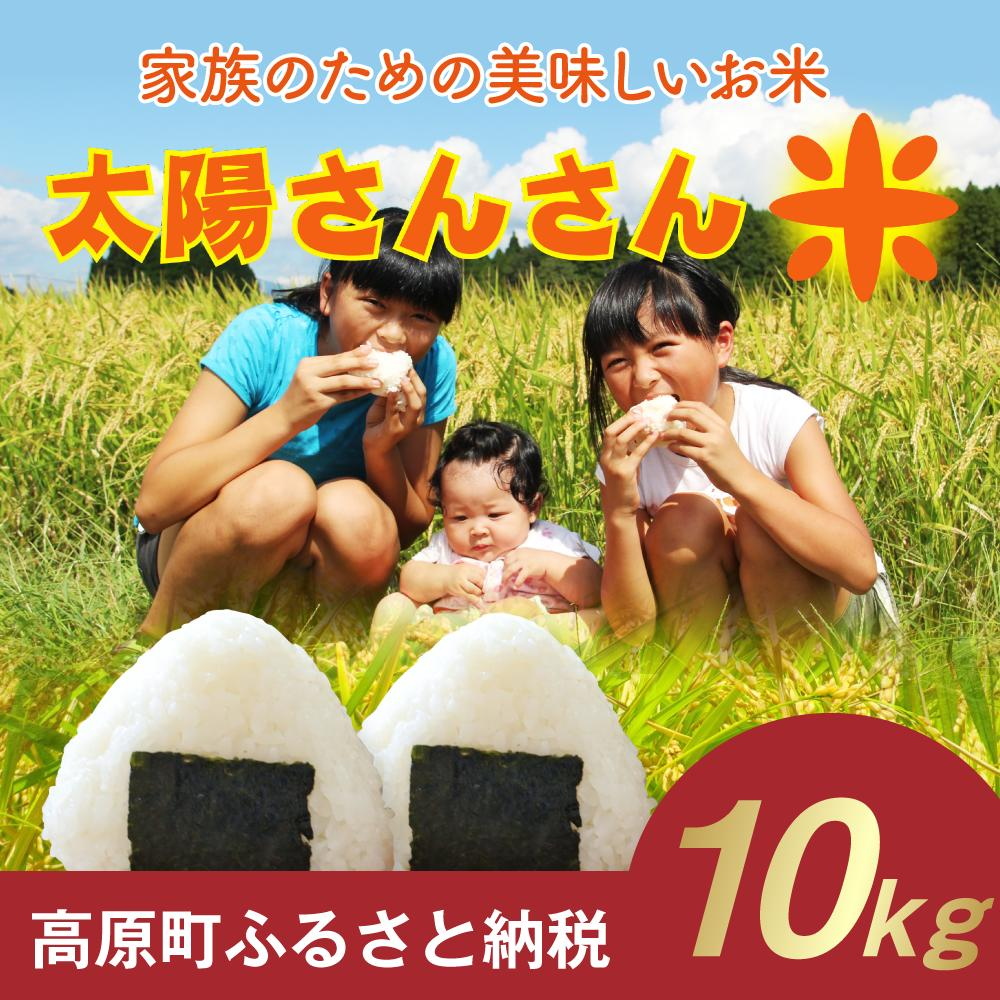 【ふるさと納税】宮崎県産 29年度 ひのひかり 10kg 家族のお米「太陽さんさん米」送料無料