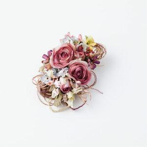 【ふるさと納税】手作り 高級 アンティーク シルクのコサージュ(小) 結婚式 フォーマル