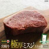 宮崎牛極厚ミスジステーキ300g+塩