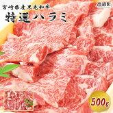 宮崎県産黒毛和牛特選ハラミ500g