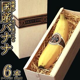 【ふるさと納税】テレビで話題のバナナ!7月発送分 そのままガブリ!皮まで食べられるバナナ「NEXT716」6本入り 生産者こだわりの逸品(ラージサイズ:180g超/本)