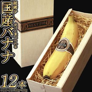 【ふるさと納税】テレビで話題のバナナ! そのままガブリ!皮まで食べられるバナナ「NEXT716」12本入り 生産者こだわりの逸品(レギュラーサイズ:120g〜180g/本)