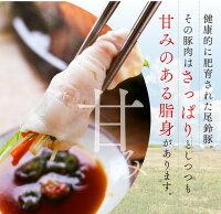 【ふるさと納税】(希少)尾鈴豚しゃぶしゃぶ&焼肉セット