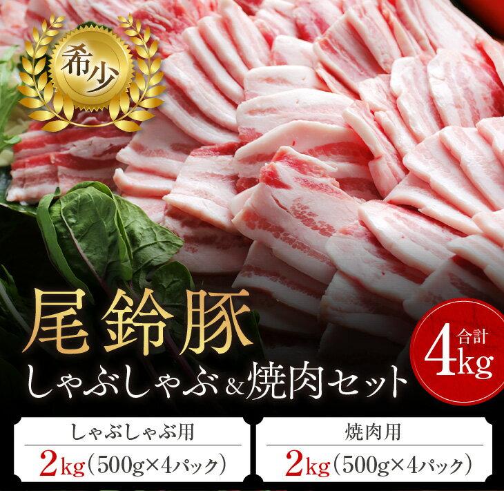 【ふるさと納税】(希少)尾鈴豚 しゃぶしゃぶ&焼肉セット