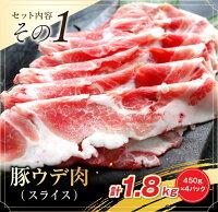 (11月配送分)【ふるさと納税】豚ウデ肉・豚モモ肉スライスセット4.5kg(都農町加工品)