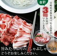 【ふるさと納税】豚スライスバラエティーセット(バラ・ロース・肩ロース)合計3kg