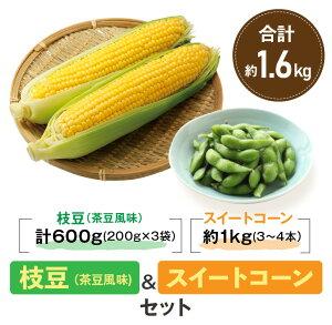 【ふるさと納税】『枝豆(茶豆風味)&スイートコーンセット』約1.6kg(都農町産)