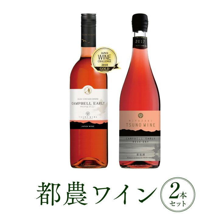 【ふるさと納税】Sweet&Dryキャンベル・ロゼ2本セット(都農ワイン)